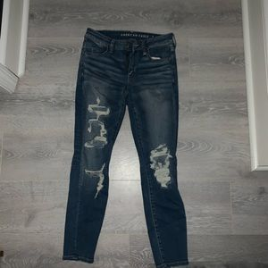 ripped skinny american eagle jeans